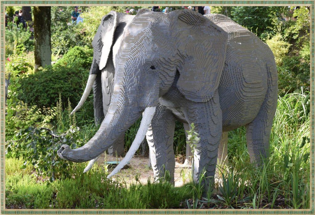słoń z lego w Legoland